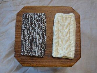 ≪編み図≫ 指なし手袋 2種の画像