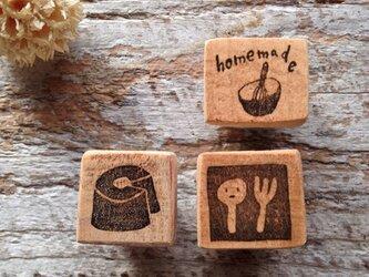 1036 シフォンケーキ+homemade+スプーンとフォークの3点セット の画像