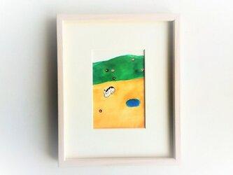 「小さな世界」イラスト原画/額縁入りの画像
