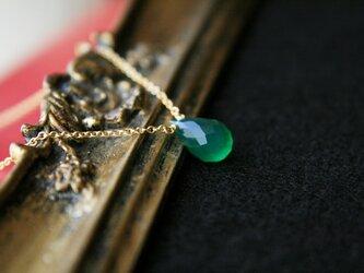 【再販】グリーンオニキスのネックレスの画像