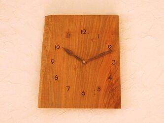 掛け時計 桜材④の画像