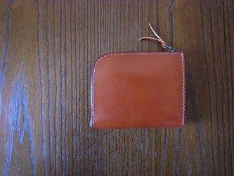 シンプルな革のお財布 キーホルダー付き(焦茶)の画像