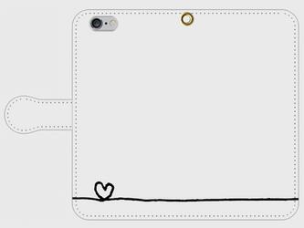 【送料無料】iPhone6/6s手帳型スマホケース ハートの画像