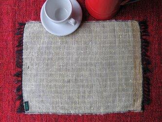 裂き織り テーブルマット dの画像