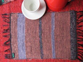 裂き織り テーブルマット mの画像