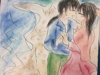海と女の子ふたりの画像