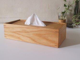 家具職人の作る ティッシュケース 「オーク」の画像