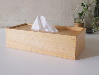 家具職人の作る ティッシュケース 「ブナ」の画像
