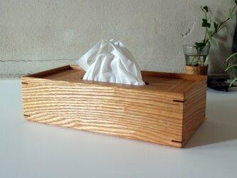 家具職人の作る ティッシュケース 「タモ」の画像