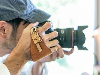 カメラハンドストラップ/一眼レフ - ヴィンテージタンの画像
