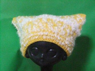 猫耳帽子の画像