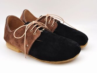 #Tokuyama Shoes:『plie lace-shoes』black x dark-brownの画像