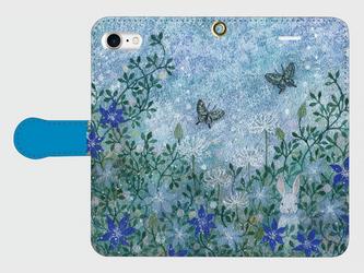 iPhone/手帳型スマホケース「光の庭」(受注生産)の画像