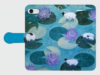 iPhone/手帳型スマホケース「睡蓮牧場」(受注生産)の画像