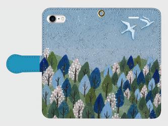 iPhone/手帳型スマホケース「春が来た」(受注生産)の画像