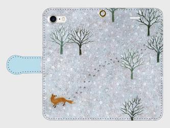iPhone/手帳型スマホケース「静寂」(受注生産)の画像