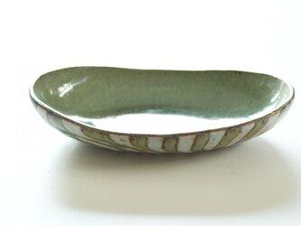 釉彩楕円鉢の画像