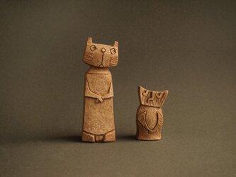 フクロウとネコ NEWバージョンの画像