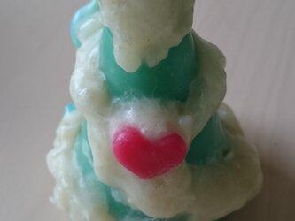 Christmas tree candle (ハート)の画像