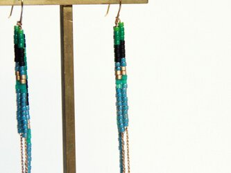 Beads Swing Pierce(Green)の画像