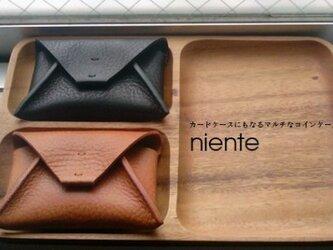 niente / マルチコインケース(ブラウン)の画像