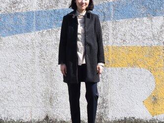 unisex wool melton coatの画像