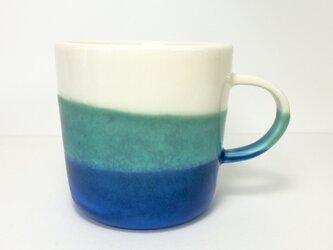 "Meoto cup ""Mug""/M (Transparent-turquoise)の画像"
