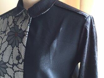 プリーツチュニック(ウール着物etc.で製作)の画像