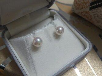 あこや本真珠 k18ピアスの画像