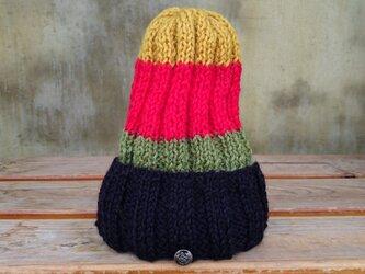 ニット帽 タテジマの画像