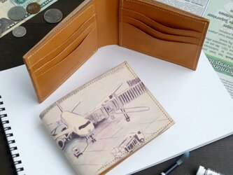 札入れ 財布(デパーチャー エアポート)オールレザー 牛革 ILL-1153の画像