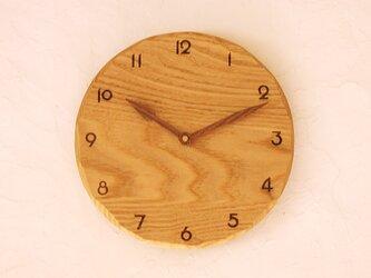 掛け時計 栗材①の画像