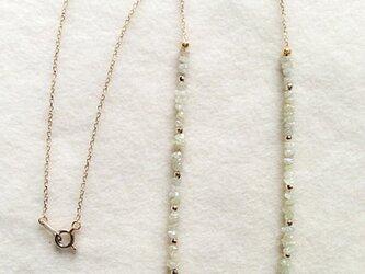 K10 diamond rough cut necklaceの画像