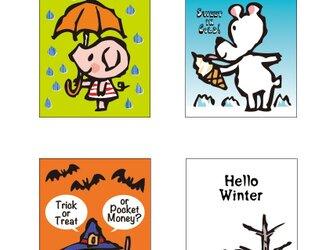 post card (4枚セット)/ seasonの画像