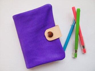 ぶた革やわらか手帳カバー 【B7】手染めレザー1536004の画像