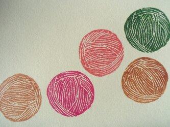 ポストカード(2枚) 毛糸の画像