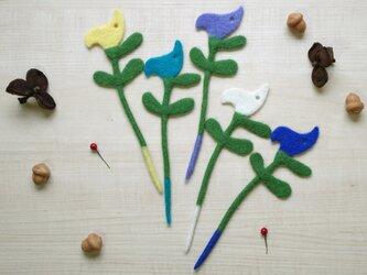 ナプキンリング&グラスマーカー 小鳥:ノルディックカラー5本セットの画像