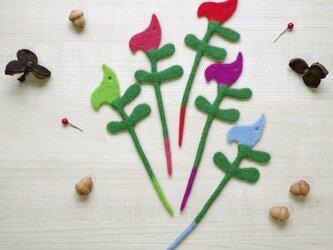 ナプキンリング&グラスマーカー 小鳥:ポップカラー5本セットの画像