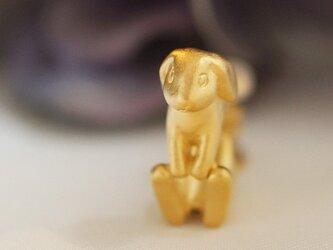 うさぎイヤリング~ロップイヤー~(ゴールド) 片耳の画像