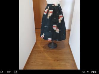 銘仙のギャザースカート  一点品の画像