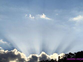 吹き出す光線の画像