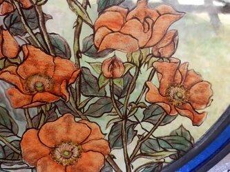 野バラの絵付けパネルの画像