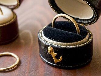 MARTINE K18 ゴールドリング 月の指輪【m036】の画像