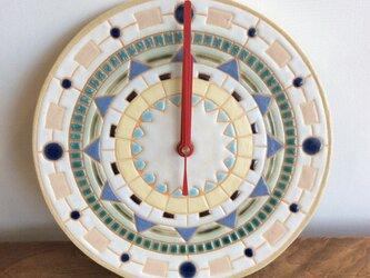幾何学文様時計(No.181)の画像