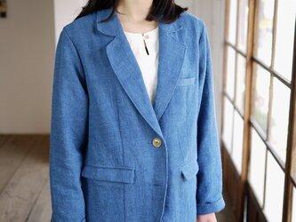 エシカルヘンプジャケット type S 正藍染め藍色の画像
