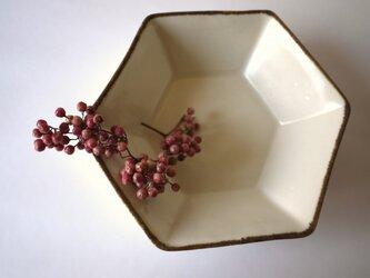 六角鉢(White)の画像