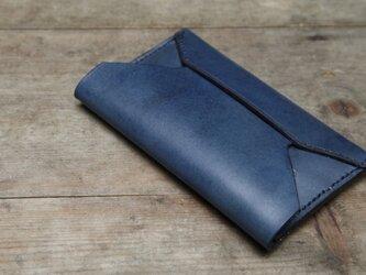[藍染め革]  ポケットテッシュケースの画像