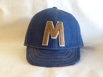 アルファベットキャップ デニム『M』の画像