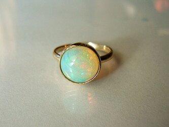 T様お取り置き エチオピアンオパールの指輪の画像