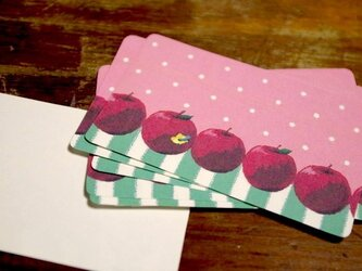 りんごのメッセージカード【15枚入り】の画像